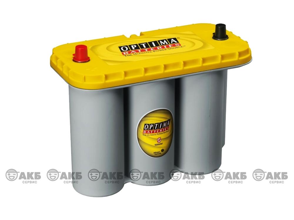 Авто аккумулятор Optima 75А/ч, универсал, YellowTop S 5.5L