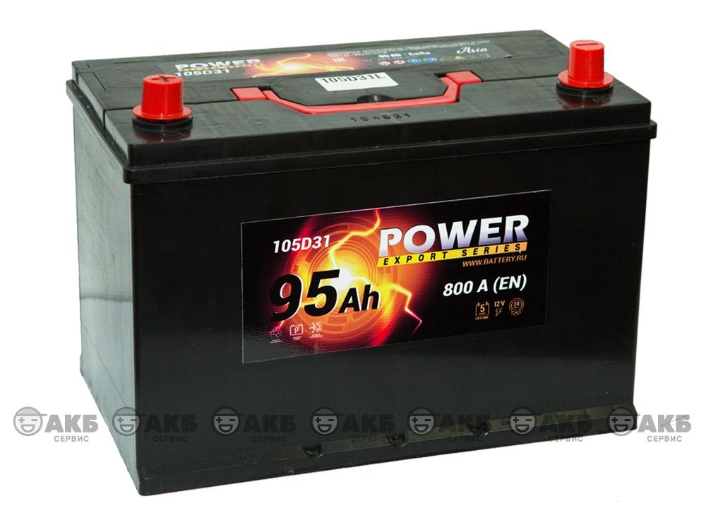 АКБ Power 95 А/ч Asia прямая полярность