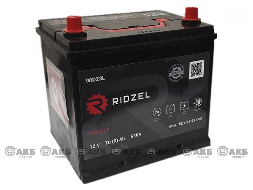 Аккумулятор RIDZEL 6СТ-70 А/ч обратная полярность (азия)