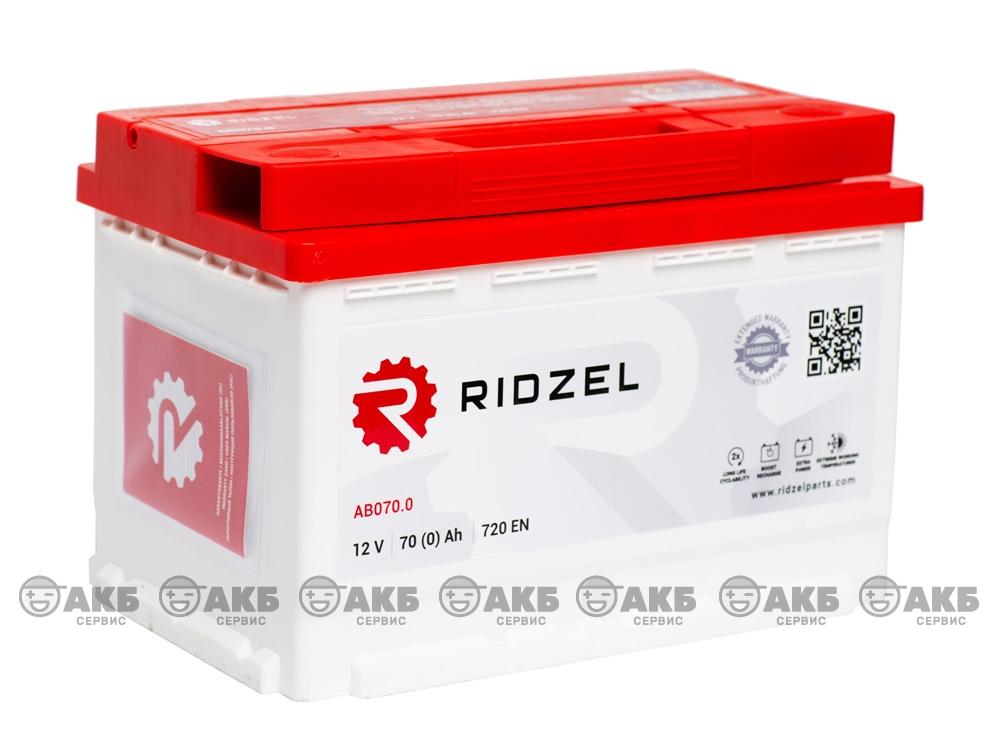 АКБ Ridzel 70 А/ч обратная полярность