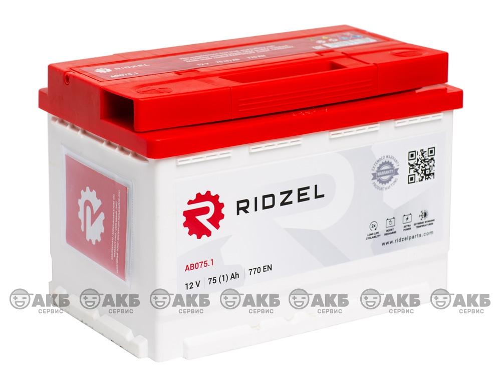 АКБ Ridzel 75 А/ч прямая полярность