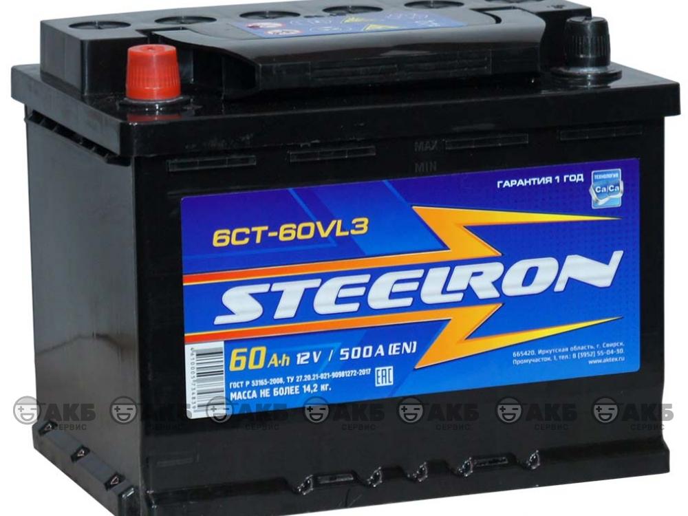 Аккумулятор STEELRON 6СТ-60 А/ч