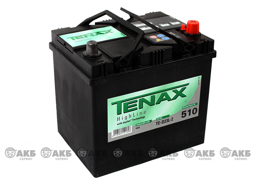 Аккумуляторная батарея Tenax 60А/ч Asia обратная полярность.Германия.