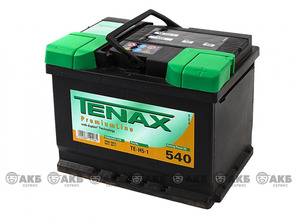 Аккумуляторная батарея Tenax 60А/ч прямая полярность.Германия.