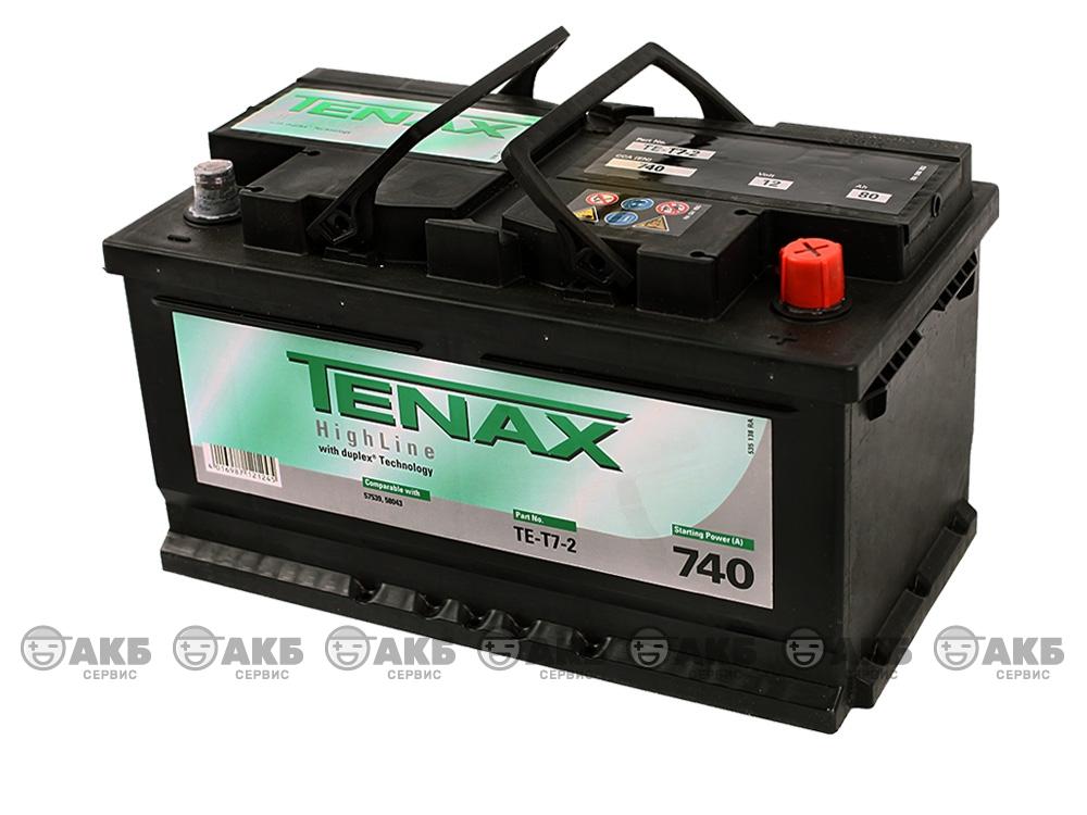 Аккумуляторная батарея Tenax 80 А/ч низкий обратная полярность.Германия.