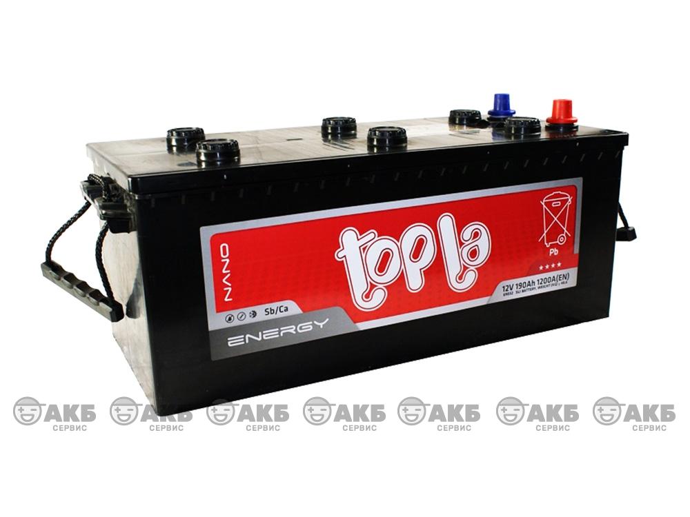 Авто аккумулятор Topla 6СТ-190 А/ч, обратная полярность
