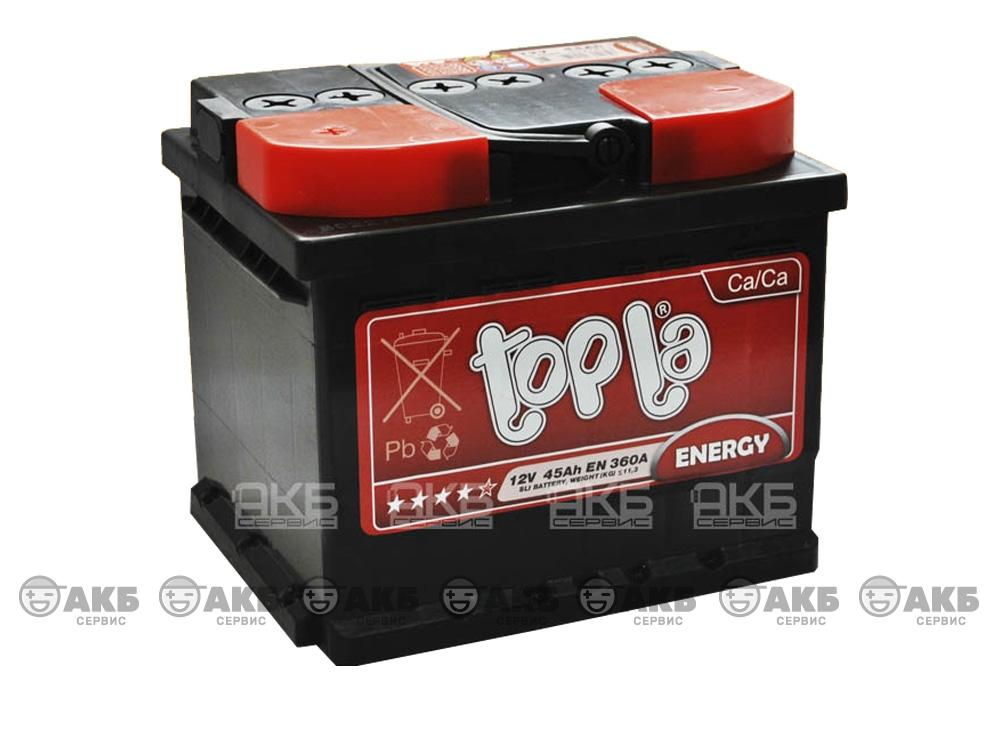 Авто аккумулятор Topla 45А/ч, прямая полярность