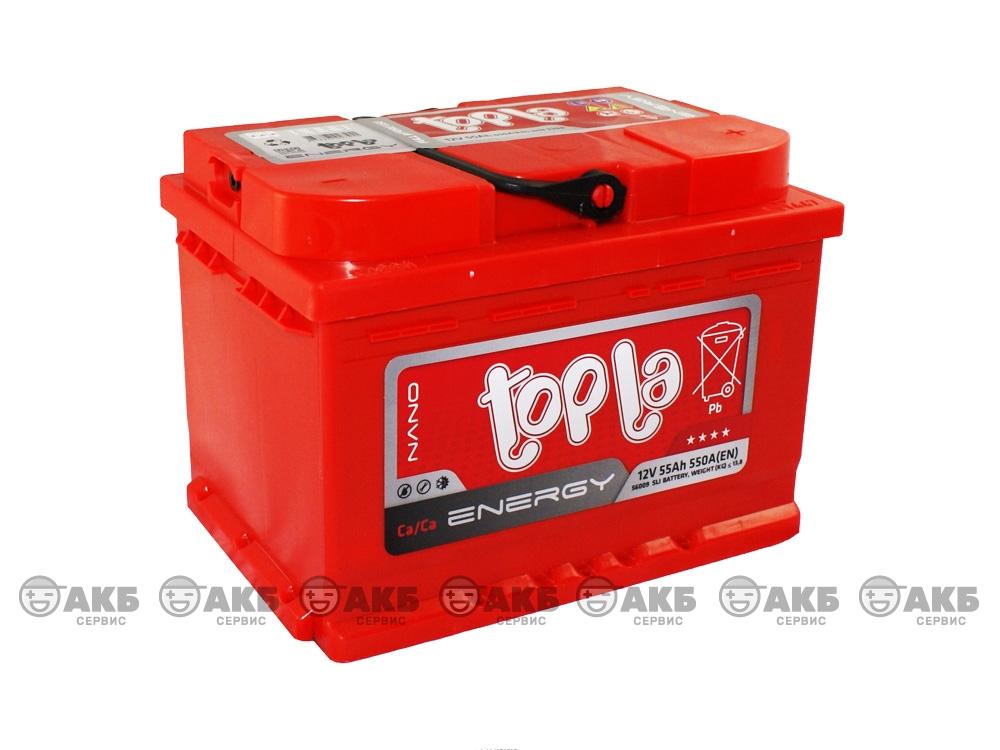 Авто аккумулятор Topla 55 А/ч, обратная полярность