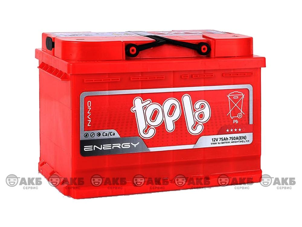 Авто аккумулятор Topla 75 А/ч, обратная полярность