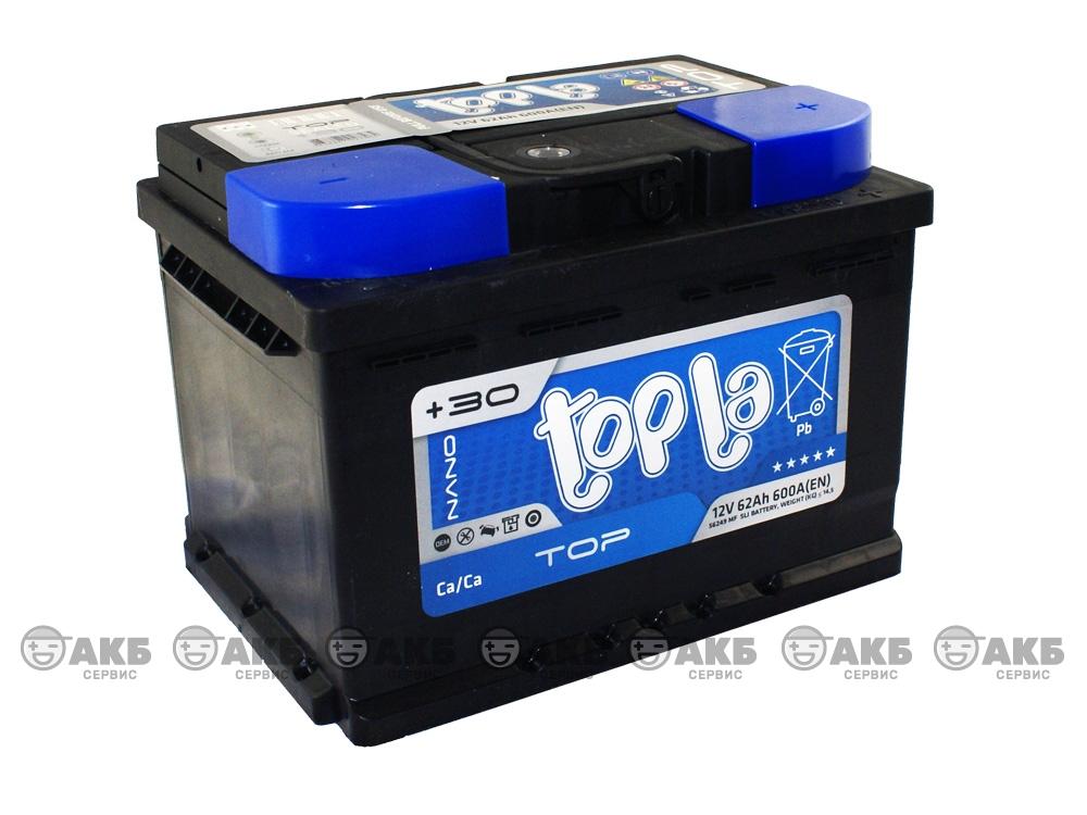 Авто аккумулятор Topla Top 62 А/ч, низкий, обратная полярность