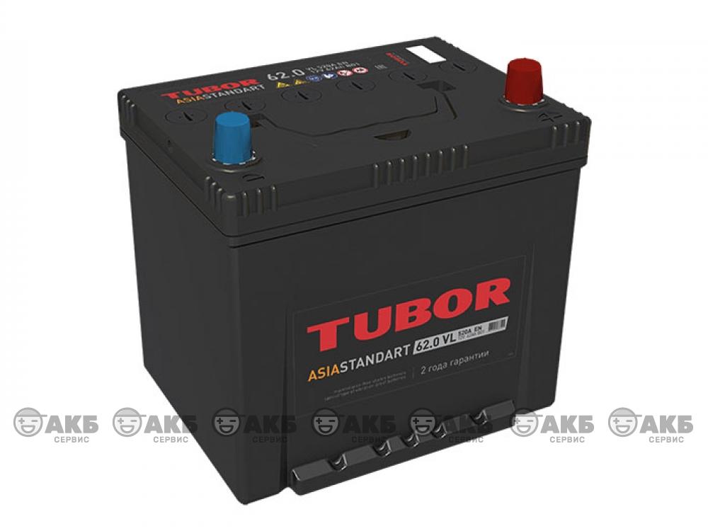 Аккумулятор TUBOR ASIA STANDART 62 а/ч обратная полярность