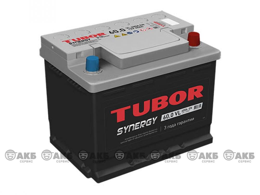 Аккумулятор TUBOR SYNERGY 60 о.п. низкий