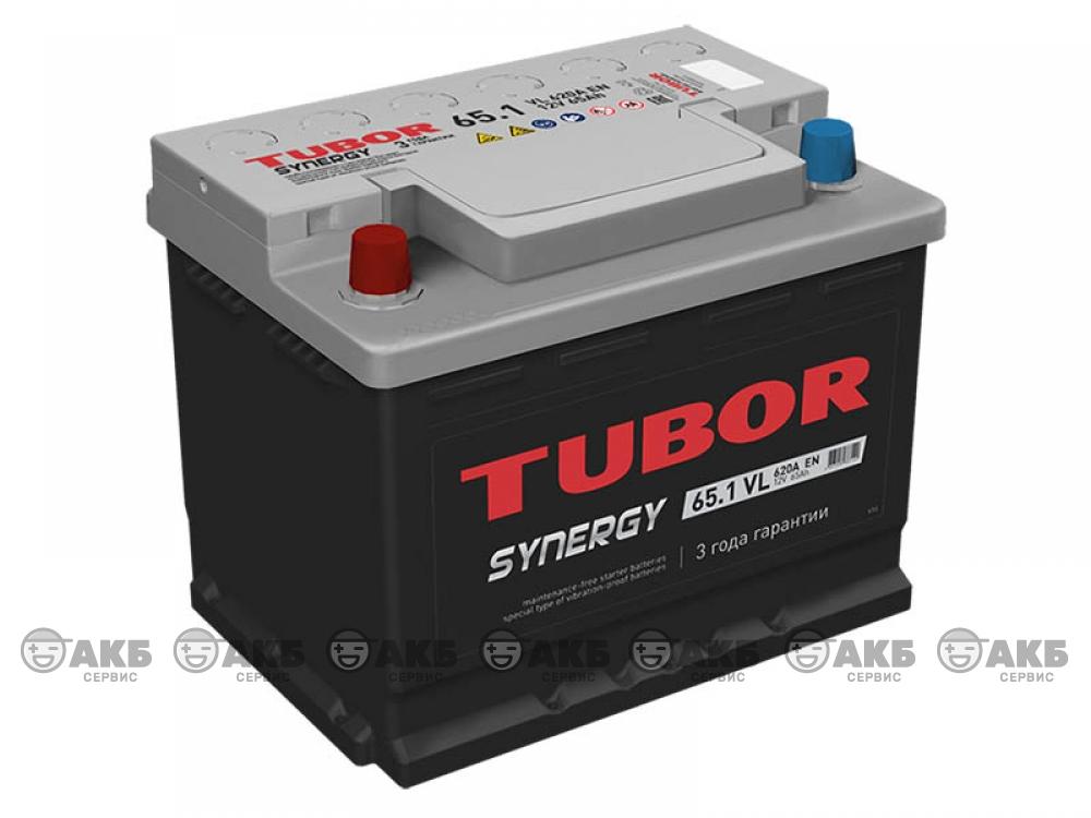 Аккумулятор TUBOR SYNERGY 65 а/ч прямая полярность