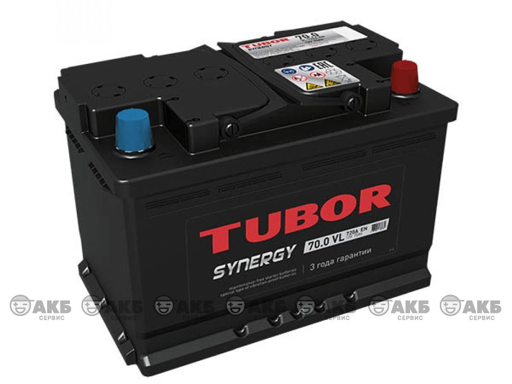 Аккумулятор TUBOR SYNERGY 70 а/ч обратная полярность (kamina)