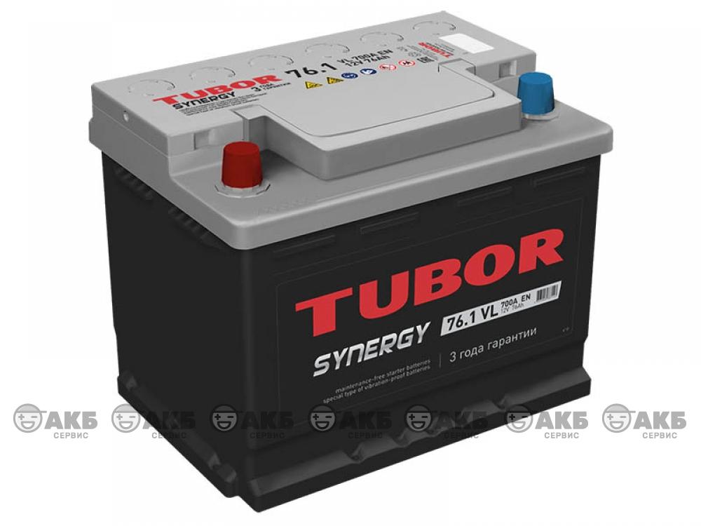 Аккумуляторная TUBOR SYNERGY 76 а/ч прямая полярность