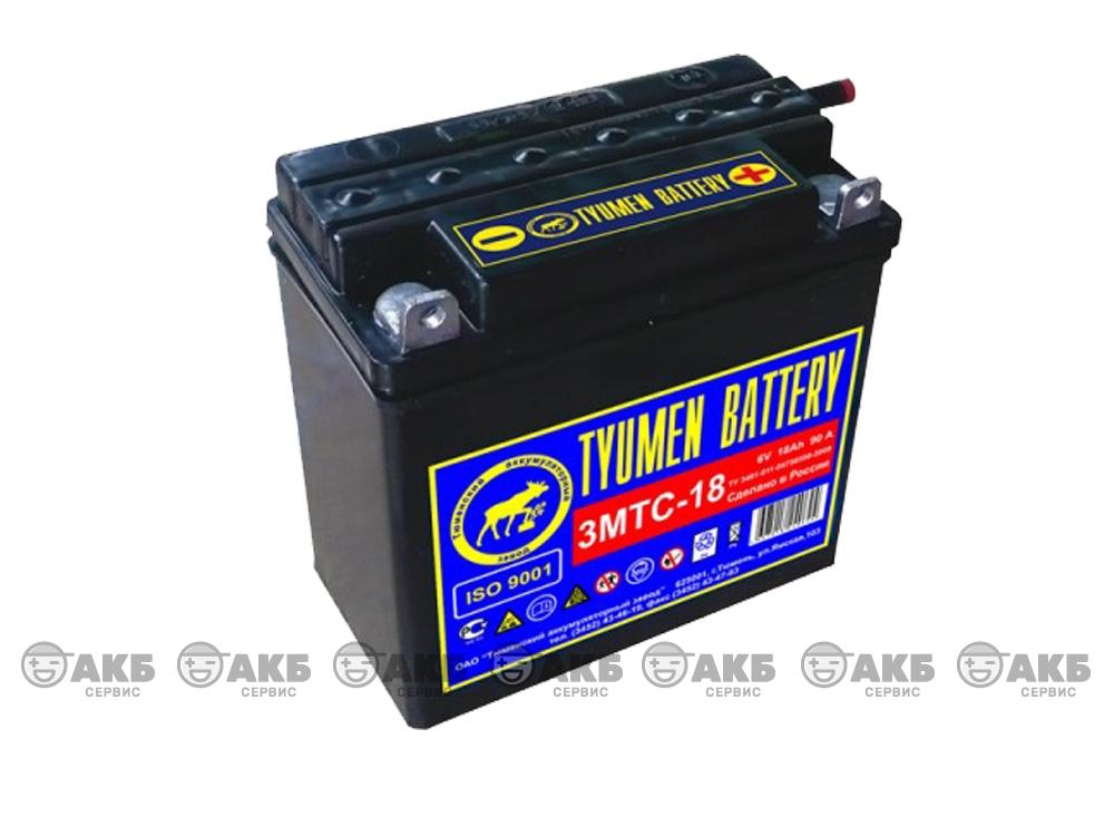 Аккумулятор для мотоцикла Тюмень Tyumen Battery 3MTC-18