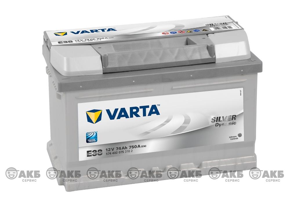 Авто аккумулятор Varta Silver dynamic E38