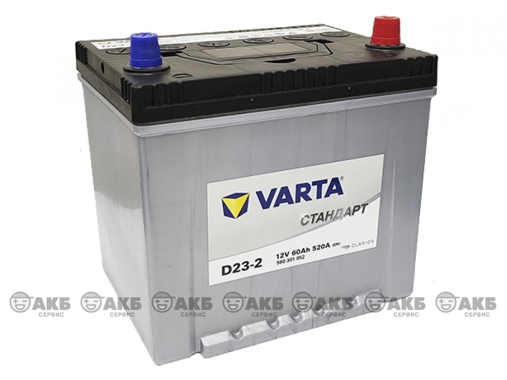 Аккумулятор VARTA СТАНДАРТ 60 А/ч обратная полярность (азия) 560301052