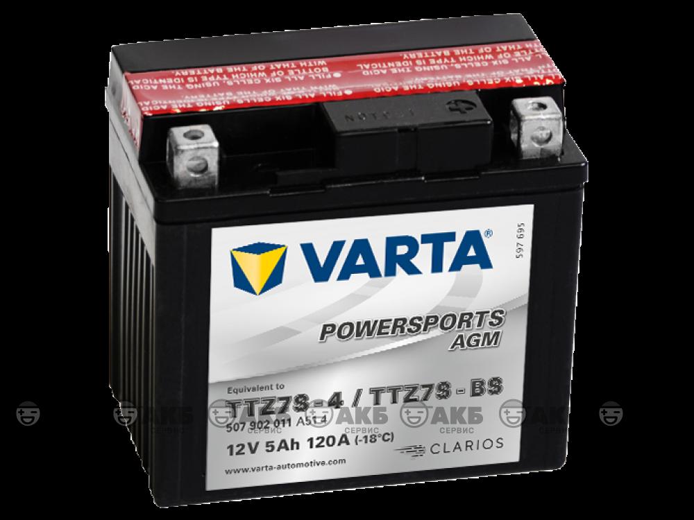 Аккумулятор VARTA moto AGM 5 а/ч (ttz7s-bs) 507902011