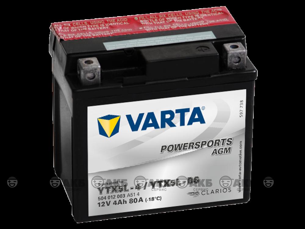 Varta 4 А/ч YTX5L-BS POWERSPORTS AGM (504012003)
