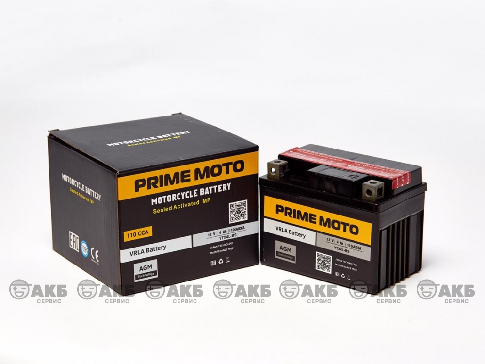 Аккумулятор PRIME YTX4L-BS