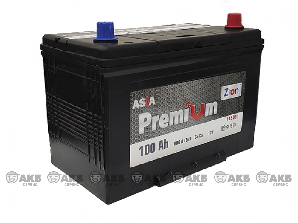 Аккумулятор ZION Premium 6СТ-100 А/ч обратная полярность (азия)